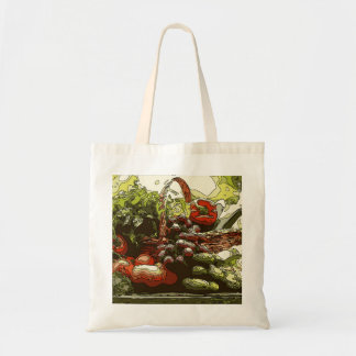 Farmers Market Fresh Fruits and Vegetables Tote Bag