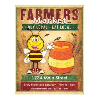 Farmers Market Fresh Local Honey Flyer