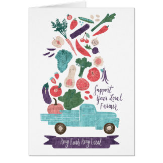 Farmer's Market Fresh Print Card