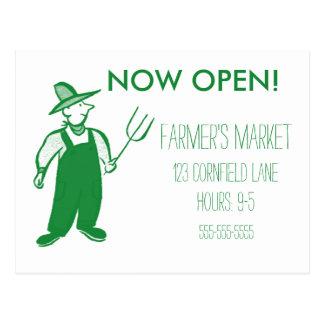 Farmer's Market Fresh Produce Postcard