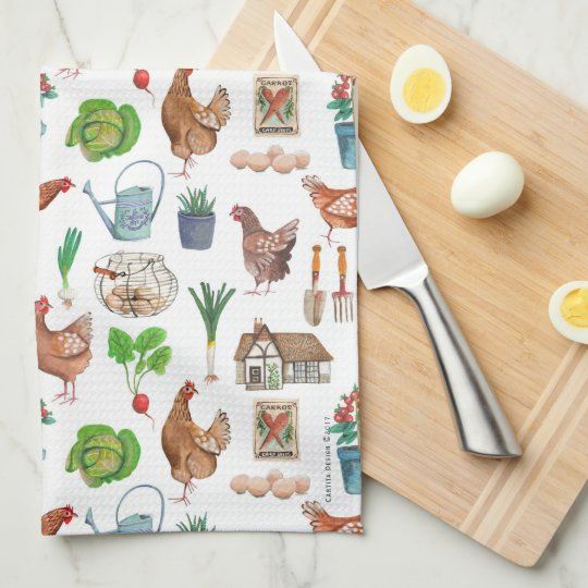 Farmers Market | Garden Rooster | Kitchen Towel