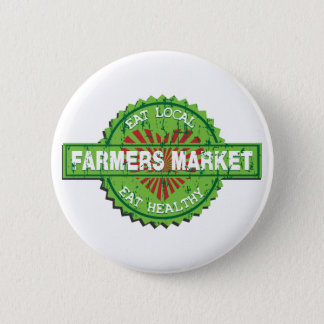 Farmers Market Heart 6 Cm Round Badge