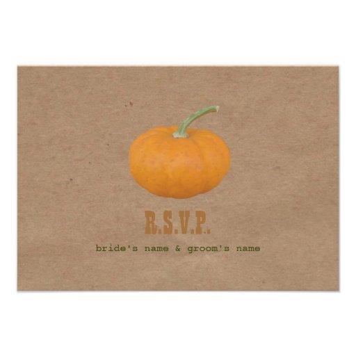 Farmers Market Inspired Wedding RSVP Pumpkin Gourd Custom Announcement