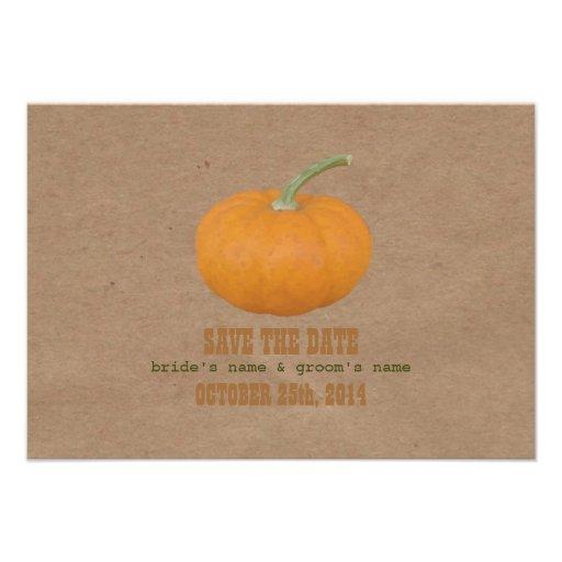 Farmers Market Inspired Wedding RSVP | Pumpkin Custom Announcements