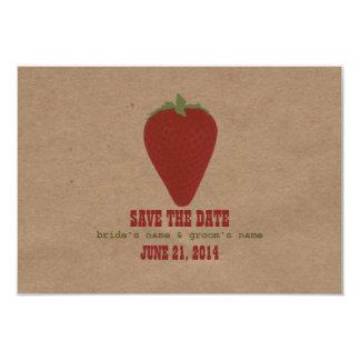 Farmers Market Inspired Wedding RSVP | Strawberry 9 Cm X 13 Cm Invitation Card