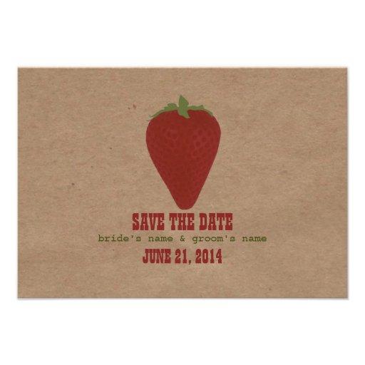 Farmers Market Inspired Wedding RSVP | Strawberry Invitation