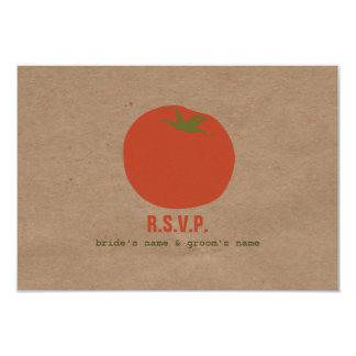 Farmers Market Inspired Wedding RSVP | Tomato 9 Cm X 13 Cm Invitation Card