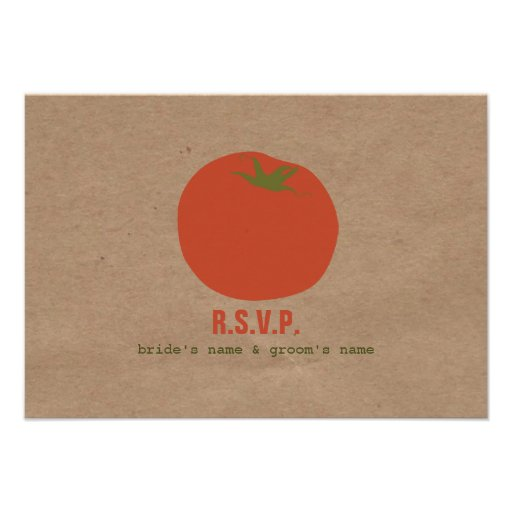 Farmers Market Inspired Wedding RSVP | Tomato Custom Announcements