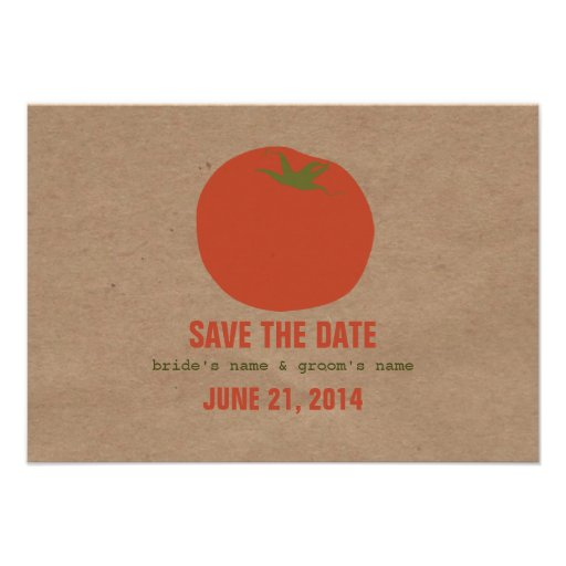 Farmers Market Inspired Wedding RSVP | Tomato Personalized Invite