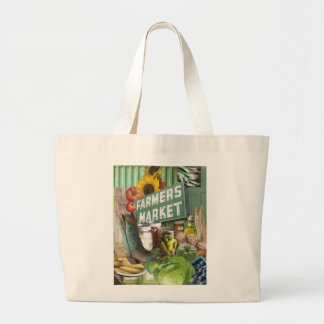 Farmers Market Large Tote Bag