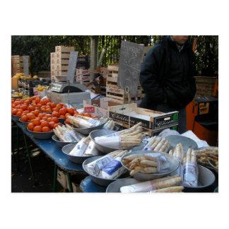 Farmer's market, Louans, Bresse,  produce Postcard