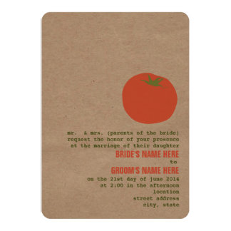 Farmer's Market Theme Wedding Invite | Tomato