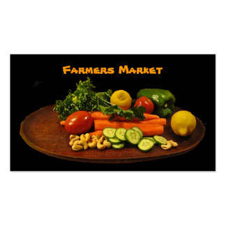 Farmers Market Vegetable Plate Pack Of Standard Business Cards
