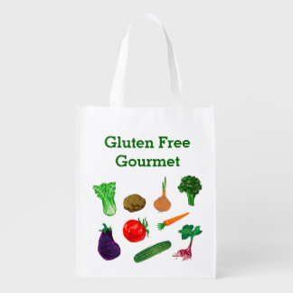 Farmers Market Vegetables Personalized Tote Grocery Bag