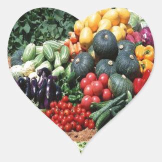 Farmers market veggie delight chefs cuisine ideas heart sticker