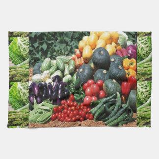 Farmers market veggie delight chefs cuisine ideas towels