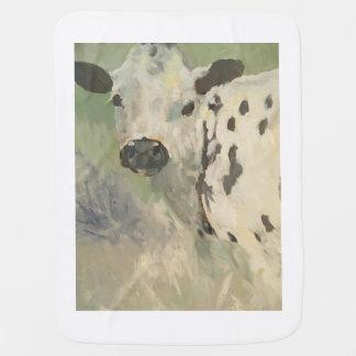 Farmhouse Baby Cow Baby Blanket