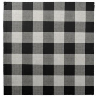 Farmhouse Black Buffalo Check Cloth Napkins