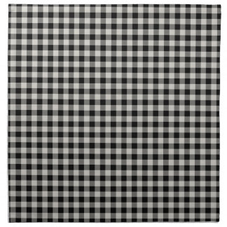 Farmhouse Black Gingham Cloth Napkins