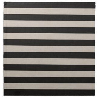 Farmhouse Black Linen Stripes Napkin