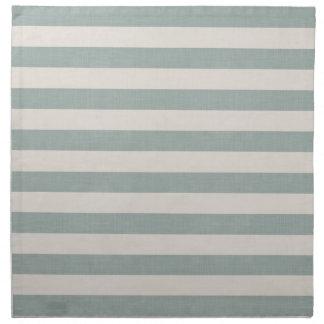Farmhouse Blue Linen Stripes Napkin