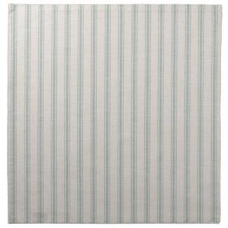 Farmhouse Blue Linen Ticking Stripes Napkin