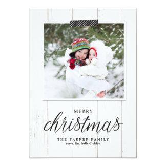 Farmhouse Chic Christmas Photo Card