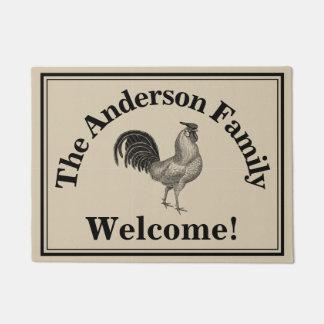 Farmhouse Chicken Custom Family Rustic Welcome Doormat