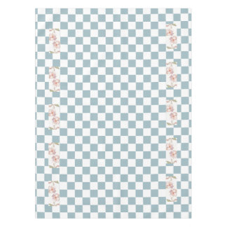 Farmhouse Country Kitchen Dogwood Flowers Checks Tablecloth