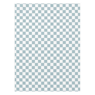 Farmhouse Country Kitchen Light Blue Checks Tablecloth