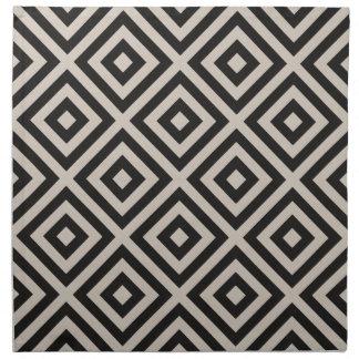 Farmhouse Diamond X Black Linen Napkin