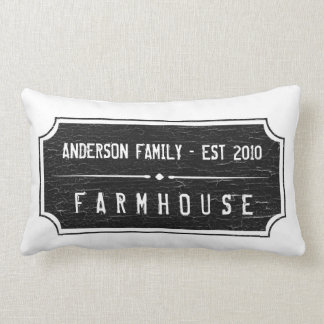 Farmhouse Family Sign Pillow