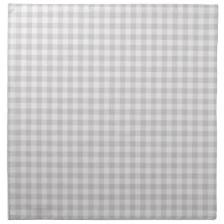 Farmhouse Gray Gingham Cloth Napkins