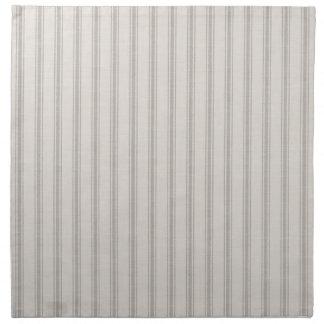 Farmhouse Gray Linen Ticking Stripes Napkin