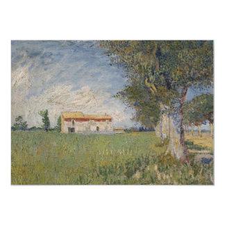 Farmhouse in a wheat field Invitation