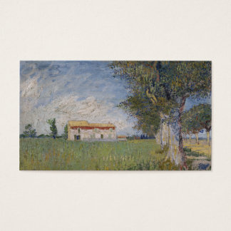Farmhouse in a Wheat Field, Vincent Van Gogh Business Card