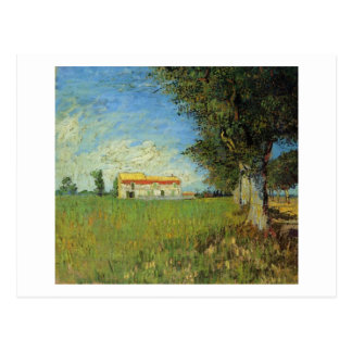 Farmhouse in a Wheat Field, Vincent van Gogh Postcard