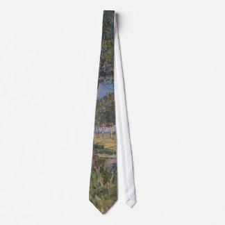 Farmhouse in a Wheat Field, Vincent Van Gogh Tie