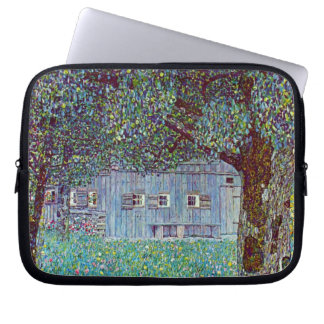 Farmhouse in Austria by Klimt, Victorian Fine Art Laptop Sleeve