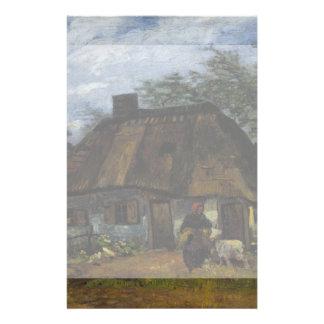 Farmhouse in Nuenen by Vincent Van Gogh Flyer Design