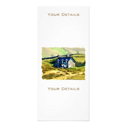 FARMHOUSE IN THE HILLS CUSTOMIZED RACK CARD