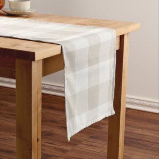 Farmhouse Linen Buffalo Check Short Table Runner
