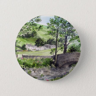 Farmhouse near Thirlmere, Lake District, England 6 Cm Round Badge