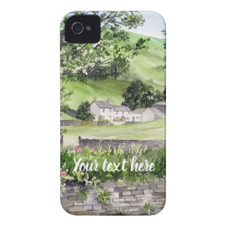 Farmhouse near Thirlmere, Lake District, England iPhone 4 Case-Mate Case