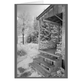 Farmhouse porch in rural New Hampshire Card