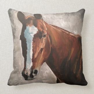 Farmhouse Ranch Sorrel Horse Pillow