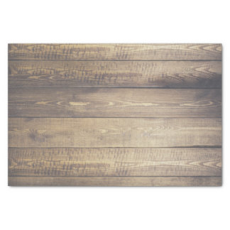 Farmhouse Rustic Country Barn Wood Planks Tissue Paper