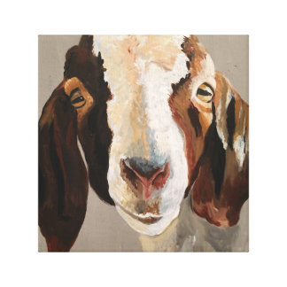 Farmhouse Show Goat Painting Wall Art on Canvas