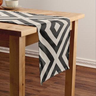 Farmhouse X Black Linen Short Table Runner