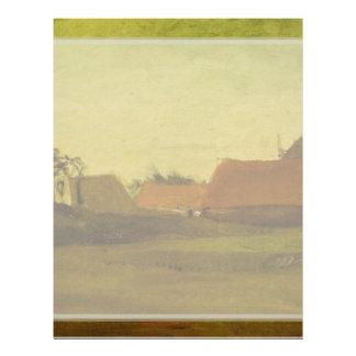 Farmhouses in Loosduinen near The Hague at... Flyer Design